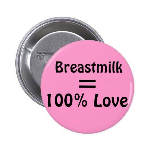 Breastmilk = 100% Love 2 Inch Round Button