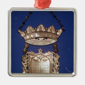 Breastplate or Shield for Torah Scroll Metal Ornament