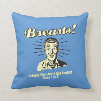 Breasts: Helping Avoid Eye Contact Throw Pillow