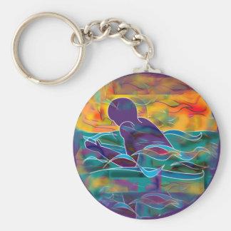 Breaststroke Basic Round Button Keychain