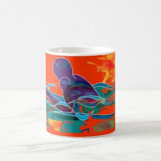 Breaststroke Cutout Coffee Mug