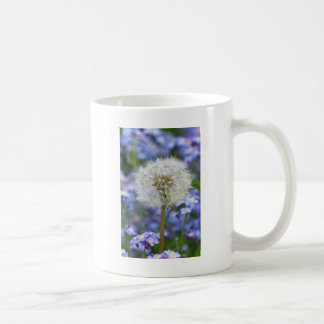 Breath flowers dream in blue forget-me-not blooms coffee mug