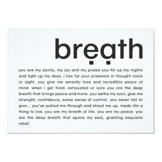 breath | mini-print card