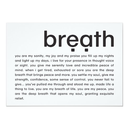 breath | mini-print card