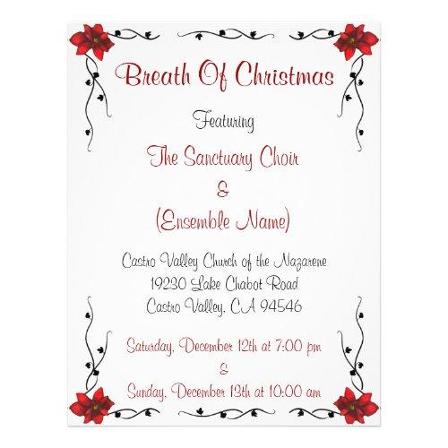 Breath Of Christmas Flyer flyer