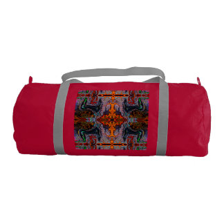Breath of Fire Red Kundalini Yoga Print by Deprise Duffle Bag