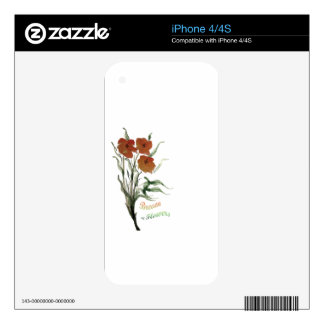 Breath of Flowers Skin For The iPhone 4S