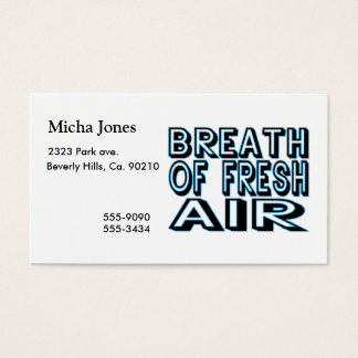 Breath Of Fresh Air Business Card