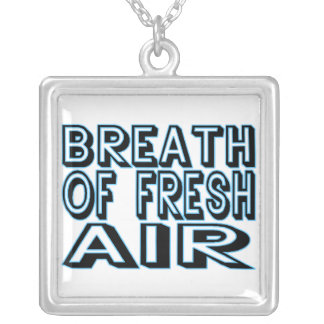 Breath Of Fresh Air Square Pendant Necklace
