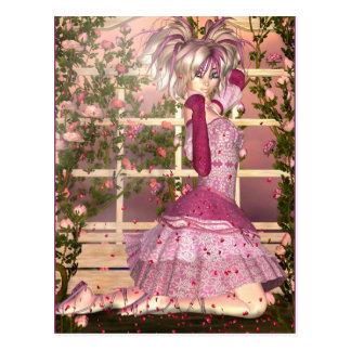 Breath of Rose Fantasy Art Postcard