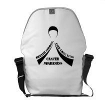 Breath Strong Live Long Lung Cancer Awareness Courier Bag