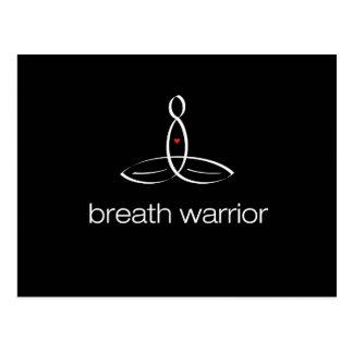 Breath Warrior - White Regular style Postcard