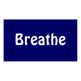 Breathe 3 business card