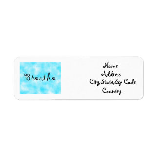 Breathe-address label