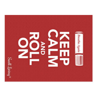 Breathe Again Keep Calm and Roll On Info Card