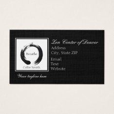 Breathe And Enso Circle Business Card at Zazzle