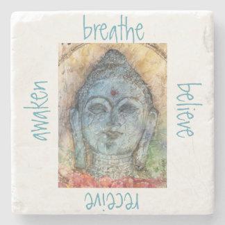 Breathe Awaken Buddha Stone Coaster