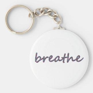 Breathe Basic Round Button Keychain