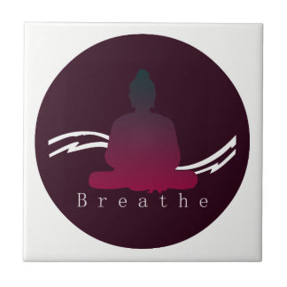 """Breathe"" Beautiful Buddha. Ceramic Tile"