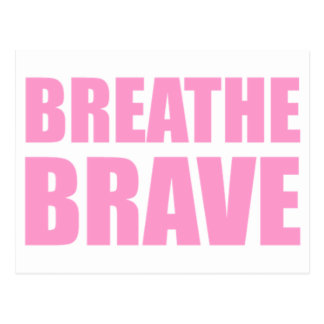 Breathe Brave Pink - Survivor Jewelry Postcard