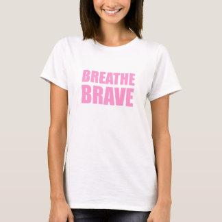 Breathe Brave Pink - Survivor Jewelry T-Shirt