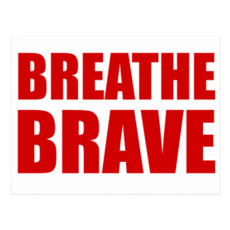 Breathe Brave Red - Survivor Jewelry Postcard