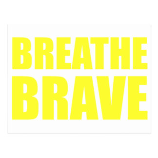Breathe Brave Yellow - Survivor Jewelry Postcard