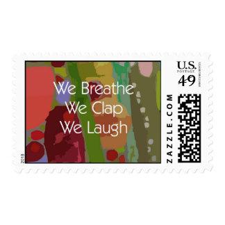 Breathe Clap Laugh Postage Stamp