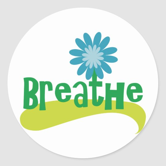 Breathe Classic Round Sticker