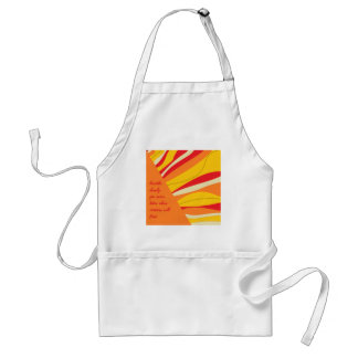 breathe deeply adult apron
