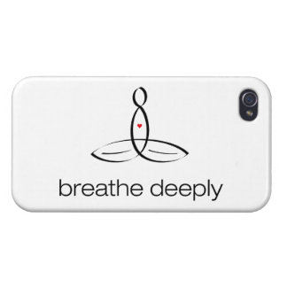 Breathe Deeply - Black Regular style iPhone 4/4S Cover