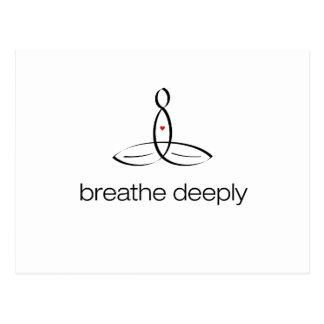 Breathe Deeply - Black Regular style Postcard