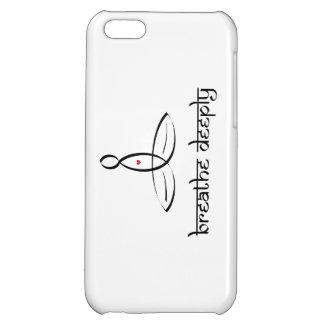 Breathe Deeply - Black Sanskrit style Cover For iPhone 5C