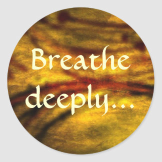 Breathe deeply...relaxation sticker