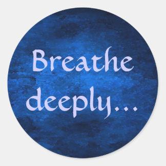 Breathe deeply... sticker