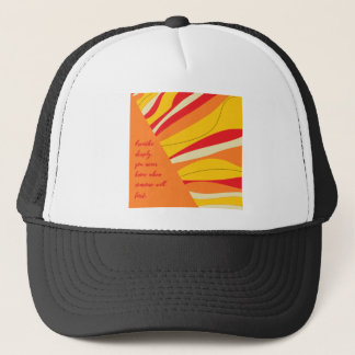 breathe deeply trucker hat