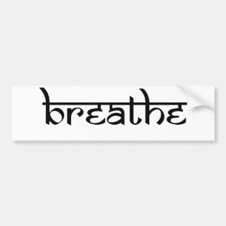 Breathe Design on Sanskrit Style Bumper Sticker