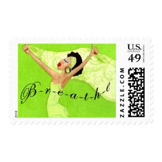 """""""BREATHE"""" Diva Lime postage"""