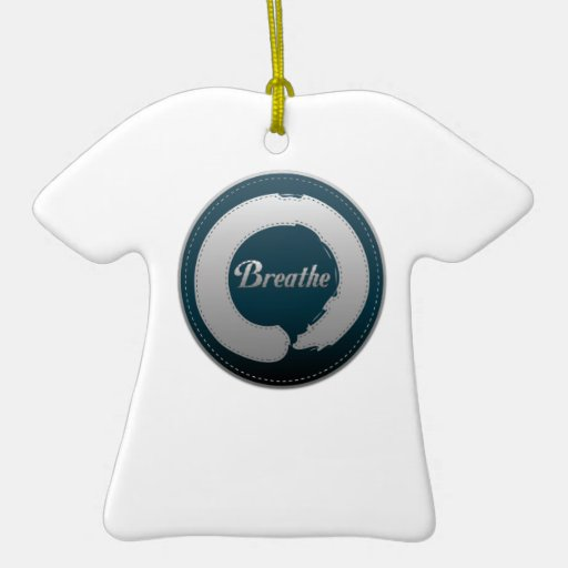 Breathe Enso Stitch Double-Sided T-Shirt Ceramic Christmas Ornament