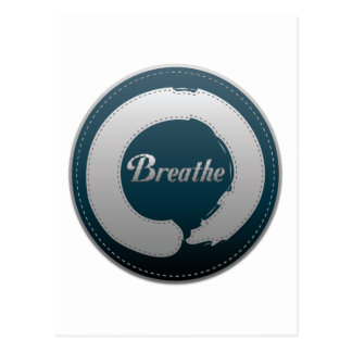 Breathe Enso Stitch Postcard