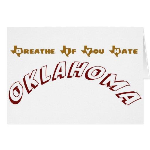 Breathe If You Hate Oklahoma Card