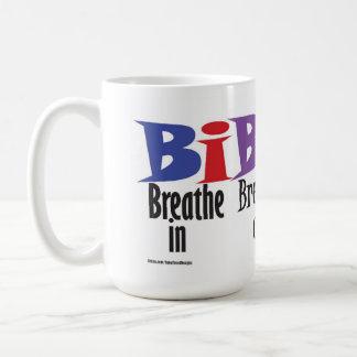 Breathe in, breathe out, move on - mug