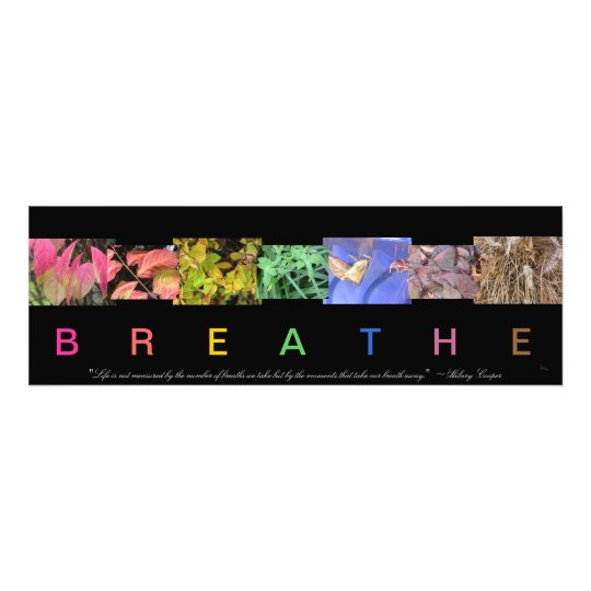 Breathe Nature Photo Collage with Quote