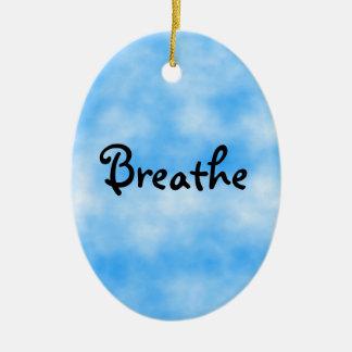 Breathe-ornament Ceramic Ornament