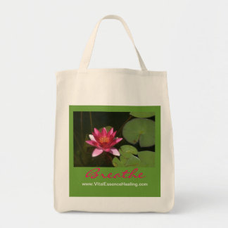 Breathe Pink Lotus Blossom Organic Grocery Tote