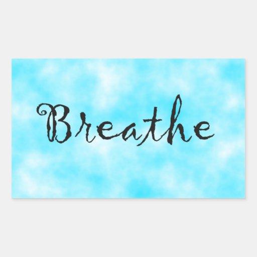 Breathe-rectangle sticker