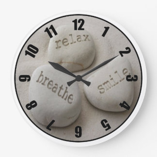 Breathe Relax Smile Customized Photo Clock