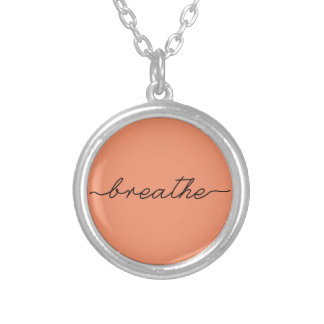 Breathe Silver Plated Necklace