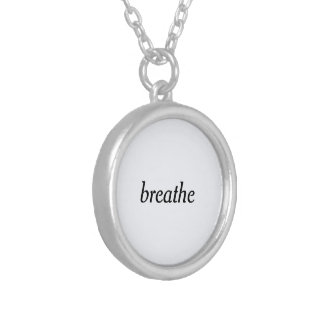 """breathe"" silver plated necklace"