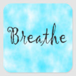 Breathe-square sticker